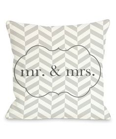 Another great find on #zulily! 'Mr. & Mrs.' Throw Pillow by OneBellaCasa #zulilyfinds