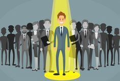 Businessman Spotlight Human Resource Recruitment Vector EPS. Download here: https://graphicriver.net/item/businessman-spotlight-human-resource-recruitment/12928763?ref=ksioks