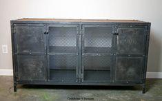 Liquor Cabinet Bar. Vintage/Modern Industrial. by leecowen on Etsy