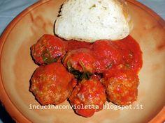 In Cucina Con Violetta: Polpette di manzo al sugo di pomodoro e basilico