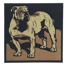 I want to make reductive woodcut out of this but with my dog