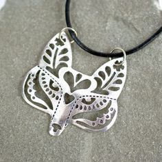 I want this for Christmas!!! Fox Silhouette Necklace at shanalogic.com