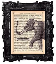 Printing on newspaper and other frame/newspaper decorating ideas