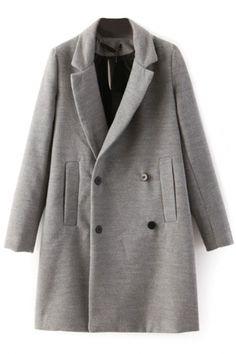 Gorgeous Grey Wool Coat