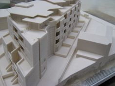 Architectural Models in ZCorp 3D printed plaster