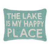 Found it at Wayfair - The Lake Is My Happy Place Wool Throw Pillow