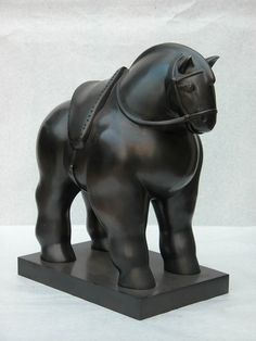 Fernando Botero - Horse with Saddle | From a unique collection of sculptures at http://www.1stdibs.com/art/sculptures/