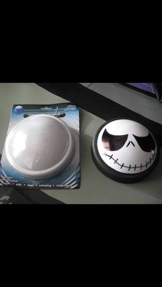 DIY Dollar Store Jack Skellington lights