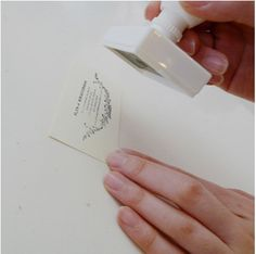 Personalized custom business card stamp
