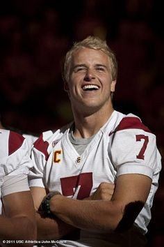 I don't care what they say about him as a football player. He is gorgeous. Matt Barkley.