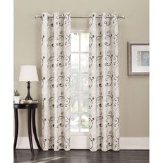 Sun Zero Parry Grommet Thermal Lined Window Curtain Panel 84 Inches