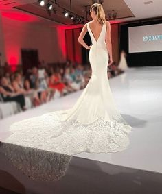 Jaws drop as @enzoani graces the runway for #NYBFW with their elegant bridal designs!! #Enzoani