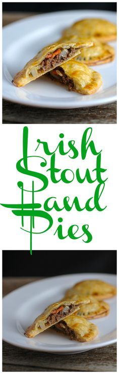 Irish Stout Hand Pies - ground beef, onion, carrot, stout beer in a pastry crust! savory, recipe, easy, St Patrick's Day, meat, homemade, baked