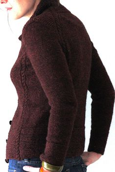 Ravelry: Catboat Cardigan pattern by Amy Christoffers - knit in the round, 8ply :)