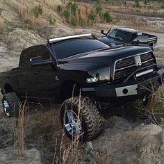 Sleek ALL Blacked out Dodge Cummins on a Hillside Lowered Trucks, Ram Trucks, Dodge Trucks, Lifted Trucks, Cool Trucks, Pickup Trucks, Lifted Dodge, Dodge Cummins, Cummins Diesel