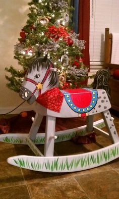 New life to an old rocking horse with just a little paint.
