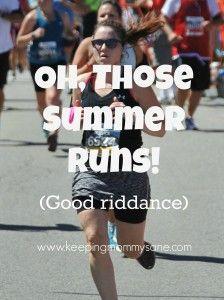 Bye bye summer running hello FALL!