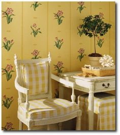 Gustavian Style - A Higher End looking Swedish style (vs Scandinavian Country Style). Thibaut Piccadilly Birgitta