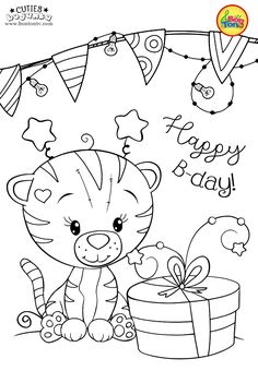 Cuties Coloring Pages for Kids - Free Preschool Printables - Slatkice Bojanke - Cute Animal Coloring Books by BonTon TV Farm Animal Coloring Pages, Easy Coloring Pages, Dog Coloring Page, Adult Coloring Book Pages, Cartoon Coloring Pages, Disney Coloring Pages, Coloring Pages For Kids, Coloring Books, Free Printable Coloring Sheets