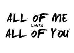 All Of Me Loves All Of You (John Legend) Postcard - DaphDesigns, Daph Designs, Daphne Verhoeven