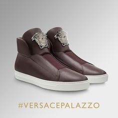 Boost your style with the #VersacePalazzo sneakers. Find more on versace.com #VersaceSneakers