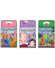 #Sponsored #Macy's #MelissaandDoug  Melissa and Doug Kids' Water Wow Makeup & Manicures, Fairy Tale and Animals Gift Set - Toys & Games - Kids & Baby - Macy's