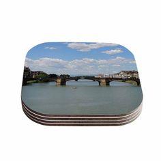 Kess InHouse Nick Nareshni 'Italian Archways' Nature Travel Coasters