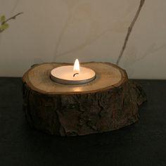 Reclaimed Natural Wood Votive Tea Light Candle Holder  by BBLUK, £5.00