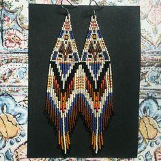 La Boheme earrings... Intricately woven beaded art c69ea5798da