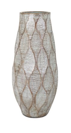 """Features:  -Outer Banks collection.  Product Type: -Floor vase.  Shape: -Bud.  Color: -White; Brown. Dimensions:  Overall Height - Top to Bottom: -28.75"""".  Overall Width - Side to Side: -8.25"""".  Overa"""