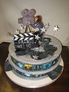 Amy Beck Cake Design - Chicago, IL - Film reels birthday cake - #amybeckcakedesign