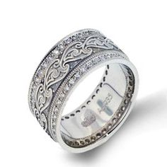 Shop online Arthurs Collection RZZ-00278 Diamond Pave Set White Gold Womens Wedding bands  at Arthur's Jewelers. Free Shipping
