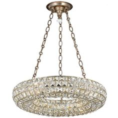 Crystorama, Chandeliers, Genesis 4 Lights Chandelier, Distressed Twilight, Square Faceted Jewels, Wrought Iron