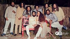 Bob Marley's family reunited for their first photo shoot in over ten years. The shoot which was organized by GQ Style for their debut issue was published last week and features some of Marley's sons, daughters and grandsons. The Marleys. Bob Marley Kids, Marley Family, Bob Marley Legend, Reggae Bob Marley, Damian Marley, Marley Brothers, Bob Marley Pictures, Robert Nesta, Nesta Marley