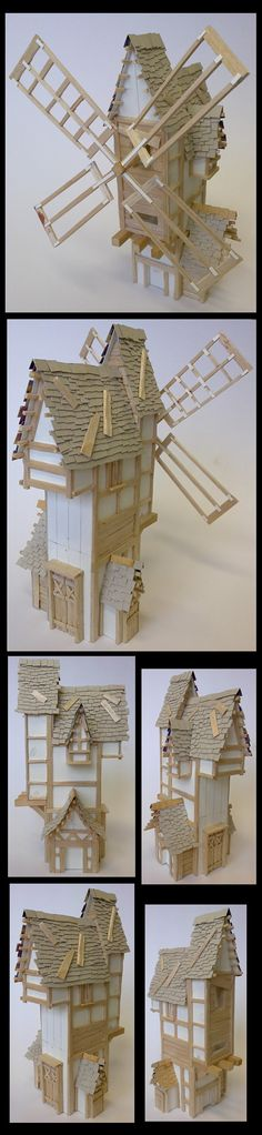 WHFB Terrain - Windmill WIP => definitively what I am looking to achieve, but with some stone-work and a side building