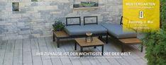 Holzdiele aus Stein, Gartenmauer, Zaunsteine Outdoor Furniture Sets, Outdoor Decor, Patio, Home Decor, Garden Walls, Barn Wood Floors, Decoration Home, Room Decor, Home Interior Design