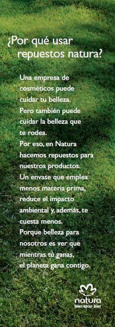 Por qué Usar Repuestos Natura. www.facebook.com/pages/Patricia-Natura-Mdp/598098550245294?ref=hl