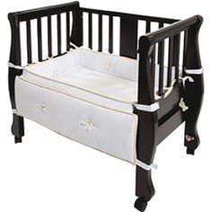 0b8852322c Arm s Reach Sleigh Bed Co-Sleeper® - Espresso Bedside Bassinet Co Sleeper