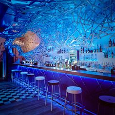 Boasting square feet of space, the Doboz Bar is located in Budapest, Hungary, within the city's vibrant entertainment quarter. Budapest Restaurant, Restaurant Design, Restaurant Bar, Budapest Nightlife, Night Club, Night Life, Bar Pics, Underwater Restaurant, Underwater Hotel
