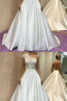 Gorgeous One Shoulder Long Ivory Prom Dress, Elegant Formal Evening Gown ,Ivory Prom Gown Ivory Prom Dresses, Lace Evening Dresses, Elegant Dresses, Evening Gowns, Wedding Dresses, One Shoulder Prom Dress, Custom Made, Formal, Store