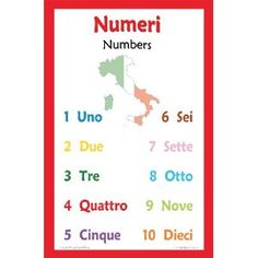 Italian Language Poster - Number Chart for Classroom and Playroom (Office Product) http://www.amazon.com/dp/B0073L8Y3E/?tag=wwwmoynulinfo-20 B0073L8Y3E