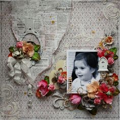 Smile *Maja Design / Blue Fern Studios* - Scrapbook.com Maja Design using their Vintage Summer Basics collection