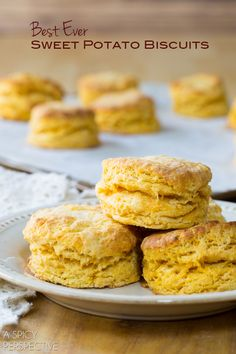 Best Sweet Potato Biscuits! Light Flaky and Moist. #biscuits #sweetpotato