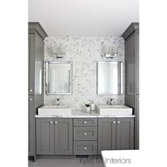 A Marble Inspired Ensuite Bathroom (Budget Friendly too!) ❤ liked on Polyvore featuring home, home improvement and plumbing