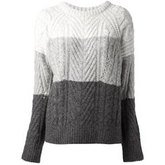 MARC BY MARC JACOBS multi-knit chunky sweater found on Polyvore