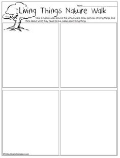 living and nonliving things scavenger hunt - Google Search