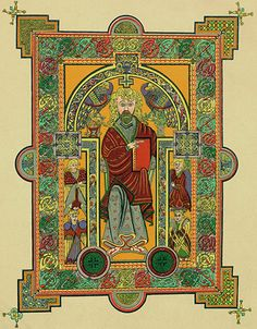 Story of British Art: Depiction of St. Matthew the Apostle from the Book of Kells