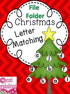 Christmas File Folder Letter Matching Activity  $$