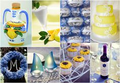 wedding in italy: Amalfi Coast : Yellow and Blue Wedding Idea- color pallette