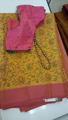 Discover thousands of images about Kshama Pandit New Blouse Designs, Saree Blouse Neck Designs, Saree Blouse Patterns, Elegant Saree, Casual Saree, Fancy Sarees, Saree Dress, Ethnic Fashion, Luxury Fashion